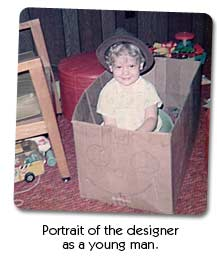 Portrait of the designer as a young man. NIIIICE set of wheels, man!